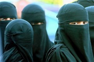 Muslim women wearing burqas - from blog in